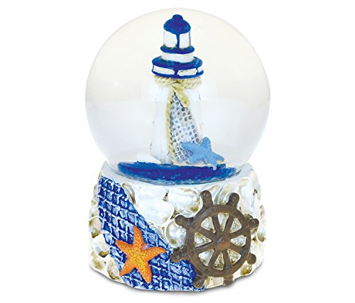 Puzzled Shells With Lighthouse (65mm) Nautical Snow Globe...