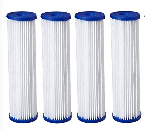 4 Pack- Polyester Pleated Sediment Water Filter 4.5