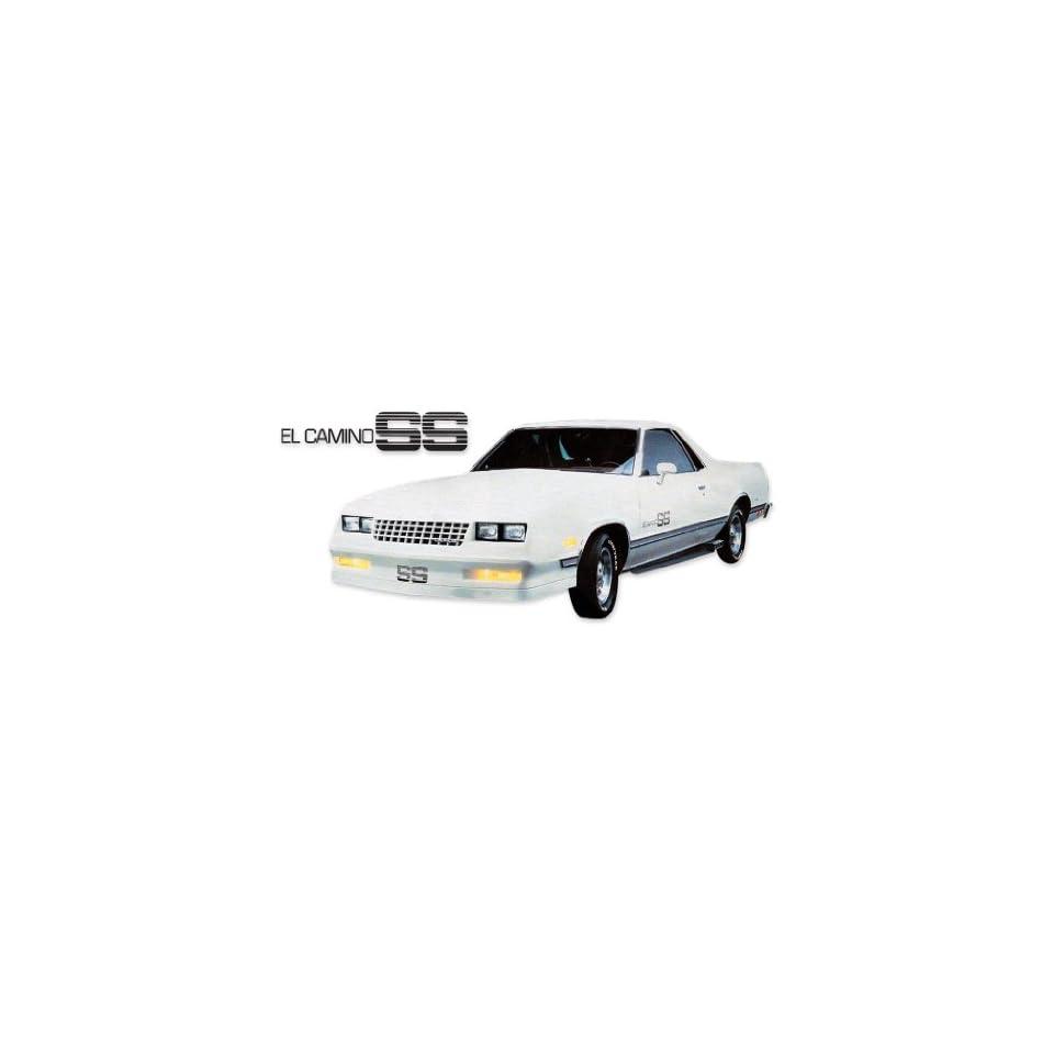 1983 1984 1985 1986 1987 El Camino SS Super Sport Choo Choo Customs Decals Stripes Kit   SILVER