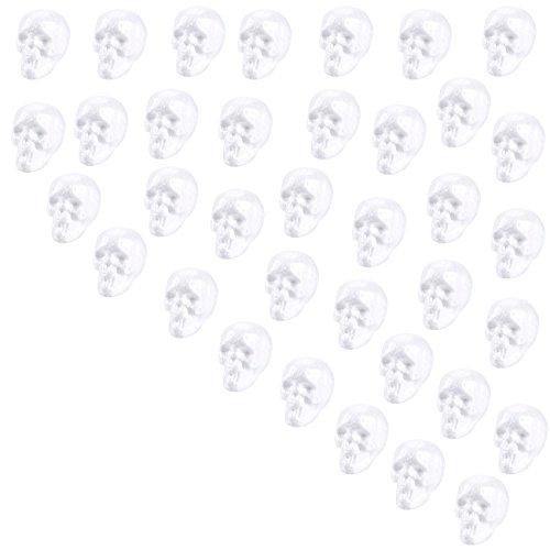 Craft Foam Skull - 36-Pack Polystyrene Foam Skull