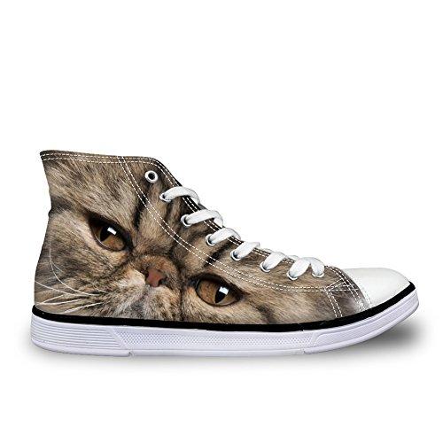 Hugs Idea Hugsidea Garfield Faccia Carina Alta Cima Scarpe Di Tela Per Uomo Donna Casual Moda Comfort Paio Sneakers Us7