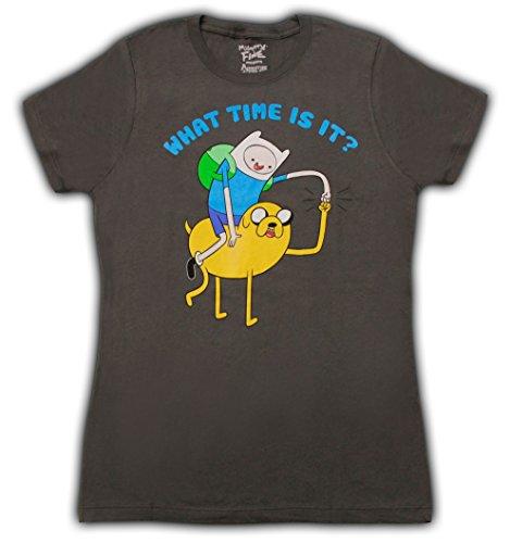 Time Jake Is And uomo Finn shirt di Dark T per Grau What Book It Damen Adventure dfqSnwf