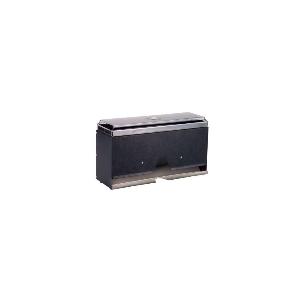 Traex 3805-06 Black with Granite Super Straw Boss Straw Dispenser by Vollrath