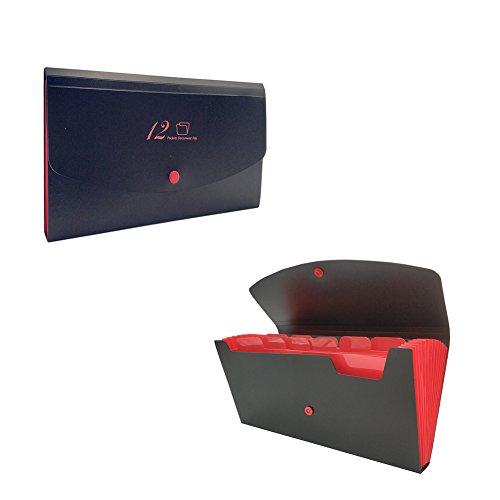 린의 보물 12 포켓 Accordian 파일 주최자, 10 x 5.5 인치, 수령 및..