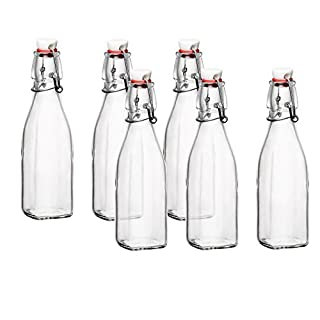 Bormioli Rocco Glass 8.5 Ounce Swing Top Bottle, Set of 6 (B0711HLCH5) | Amazon price tracker / tracking, Amazon price history charts, Amazon price watches, Amazon price drop alerts