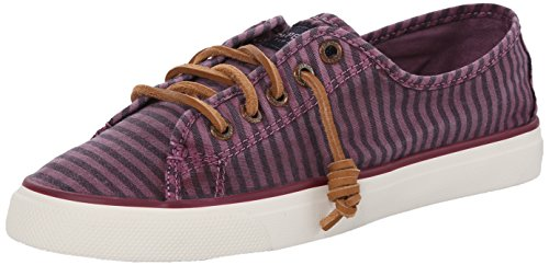 Sperry Top-sider Femmes Bord De La Mer Rayé Oxford Mode Sneaker Bourgogne