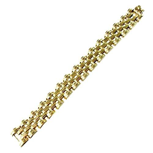 Bracelet plaqué or 18.5cm. Large [2680]