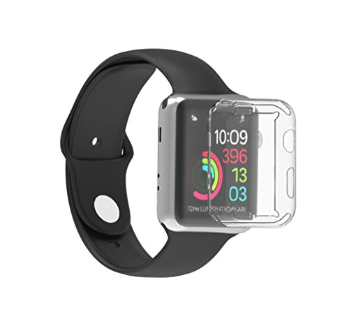 Gotd Ultra-Slim Electroplate TPU Soft Case Cover For Apple Watch Series 3 42mm (Clear) by Goodtrade8 (Image #1)