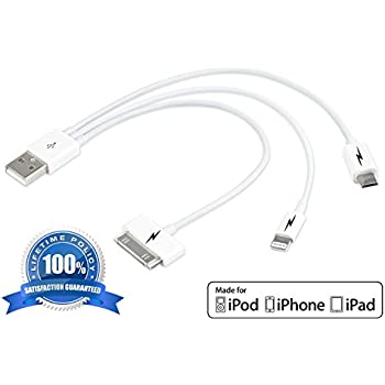 amazon com  3 in 1 usb charging cable for iphone 5  u0026 6