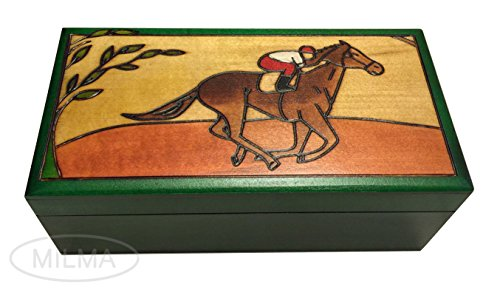 A Horse and Her Rider Polish Handmade Jewelry Keepsake Box (Box Rider Keepsake)