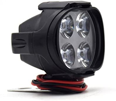 Pergrate 2 Stücke Super Helle Motorrad Led Scheinwerfer Lampe Roller Nebelscheinwerfer Arbeitsscheinwerfer Licht 12 Watt Auto