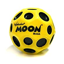 Waboba Moon Ball Extreme Bouncing Crazy Spinning Ball - Black and Yellow