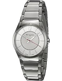 Nivada NP16169LACPA Empower Reloj Cuarzo Análogo, color Blanco/Plata