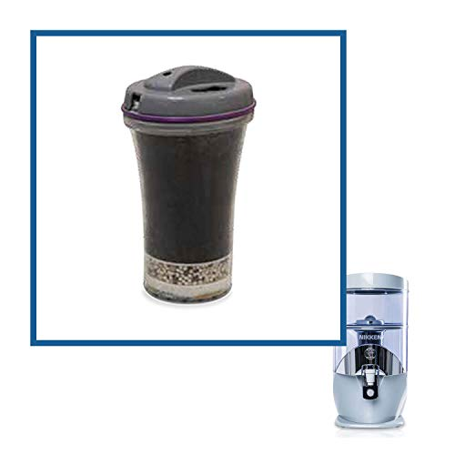 Nikken Waterfall 1 Filter Cartridge 13845 - Replacement for Gravity Water Filter Purifier System 1384 | PiMag Water System Components | Helps Body Recover from Acidity | Up to 45 liters of Water a Day