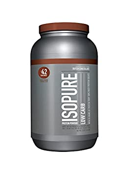 Isopure Low Carb Protein Powder, Whey Protein Isolate, Flavor: Dutch Chocolate, 3 Pounds (Packaging May Vary) 16