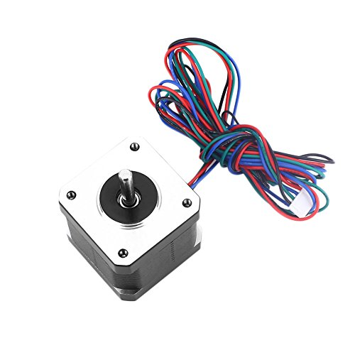 Hongfei Stepper Motor Nema 17 Bipolar 1.68A 40N.cm Holding Torque 4 Lead Wire 1.8 Degree Two-Phase Motor for 3D Printer/CNC Router/Stage Light Control/DIY Hobby by Hongfei