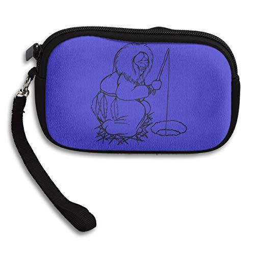 Women Wallets Eskimo Fishing Wristlet Clutch Wallet Zipped -