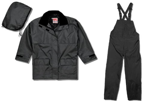 Viking Open Road Waterproof Industrial 3-Piece Suit, Black, Large
