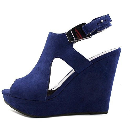 Carlos Malor Carlos Wedge by Santana Sandal Women's Blue Sapphire 4x4I7qw