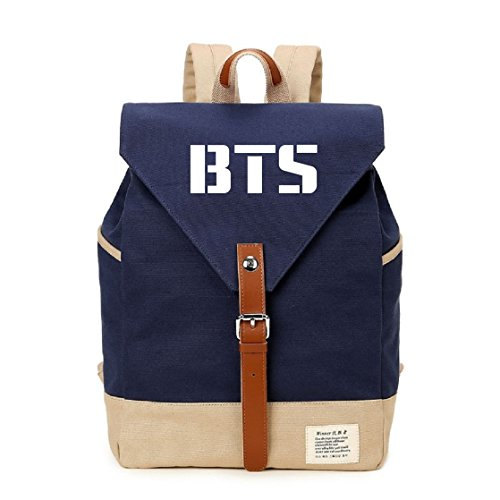 AUGYUESS KPOP Bangtan Boys BTS SEVENTEEN School Bag Daypack Bookbag Backpack (BTS 3)