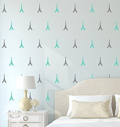 Eiffel Tower Wall Decal / Eiffel Tower Sticker / Paris Wall Decal / Modern  Wall Decor