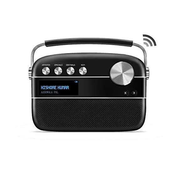 Saregama Carvaan 2.0 Portable Music Player 5000 Pre-Loaded Songs with Podcast, FM/BT/AUX (Classic Black)