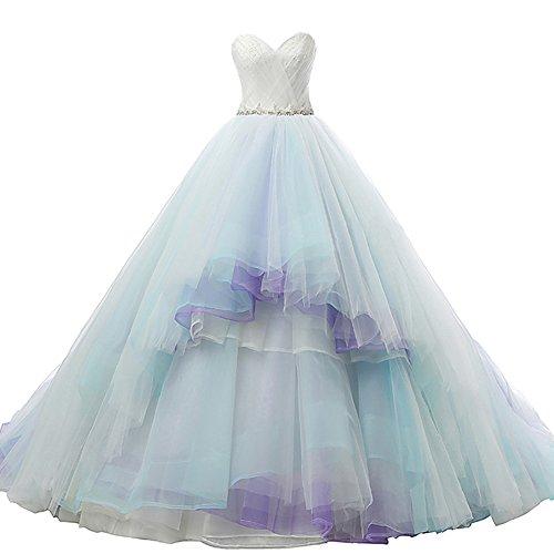 Buy aqua purple wedding dress - 7