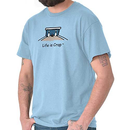 - Life is Crap Bowling Split Ironic Sarcastic T Shirt Tee