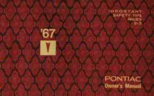 1967 Pontiac Tempest - Le Mans - GTO Owners Manual