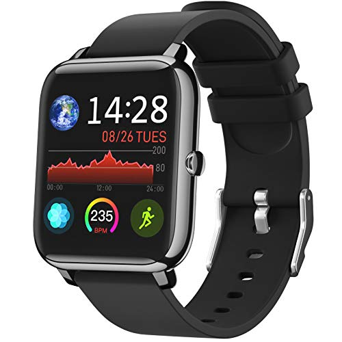 IDEALROYAL Smartwatch, P22 Reloj Inteligente Impermeable con Monitor de Frecuencia Cardíaca, Monitor de Sueño, Podómetro de Seguimiento de Actividad Física con Pantalla Táctil para Android iOS a buen precio