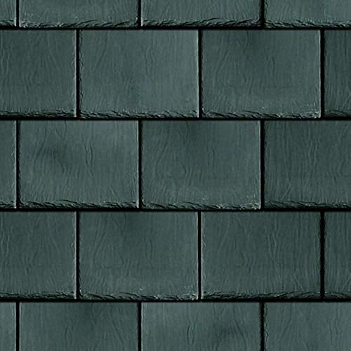 (Melody Jane Dollhouse Roof Tile Slates Dark Grey Miniature Embossed Card Roofing Sheet)