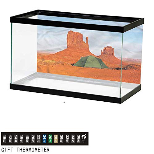 bybyhome Fish Tank Backdrop Camper,Monument Valley in Utah USA,Aquarium Background,36