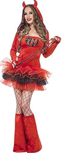 (Ladies Sexy Devil Tease Halloween Tutu Rave Club Fancy Dress Costume Outfit UK 6-18 (UK)