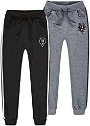 TERODACO 2-Pack Boys Fleece Jogger Sweatpants for Athletic & Casual