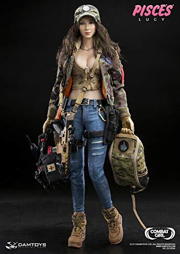 1/6 女性兵士 フィギュア 素体セット迷彩 COMBAT GIRL SERIES 軍事ファン 武器付き コスプレ アクション LUCY DCG004 B07J6TD11F
