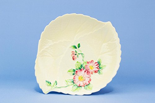 Carlton Ware Yellow Leaf Serving Dish Bowl Painted Flowers Vintage English 1950s