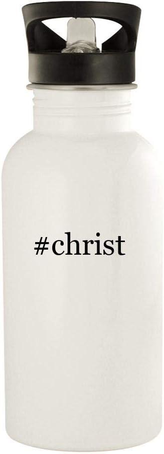 #christ - 20oz Stainless Steel Water Bottle, White