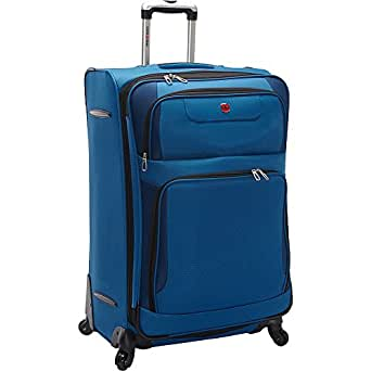 """SwissGear Spinner Luggage Collection Blue 28"""" Spinner"""