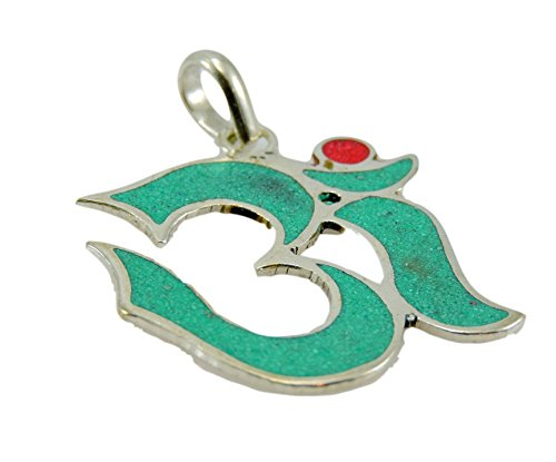 (Hand Crafted Turquoise Coral Om Pendant/Necklace From Nepal)