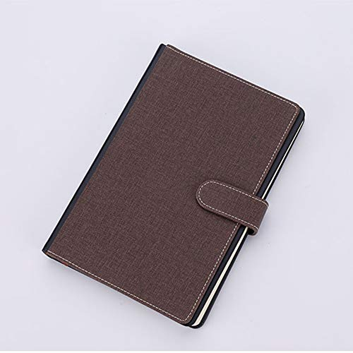 AOAO Business Leather Notepad, A5, Traveler Notebook Daily Plan with Card Insert, Men and Women Fashion Notebook,Brown]()