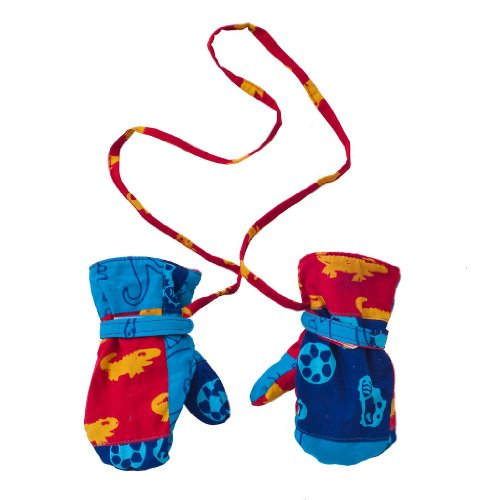 Back From Bali Boys Baby Toddler Mittens with String Micro Fleece Warm Winter