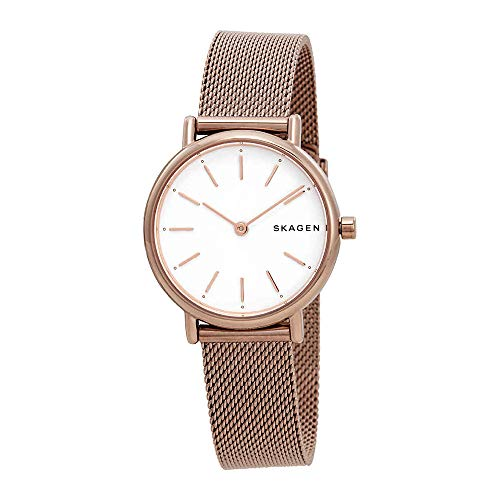 Skagen Women's 'Signatur' Quartz Stainless Steel Casual Watch, Color:Rose Gold-Toned (Model: SKW2694)