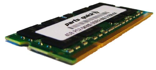 4GB Memory Upgrade for Toshiba Satellite A500-11U Laptop DDR2 PC2-6400 800MHz SODIMM RAM (PARTS-QUICK BRAND)