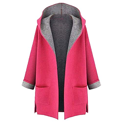 TIFENNY Loose Cardigan Women's Fashion Coat Jacket Medium Long Large Size Casual Front Open Ourwear Tops -