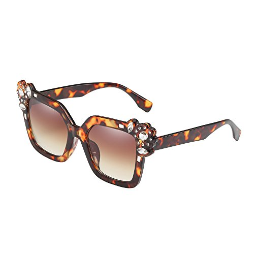 Price comparison product image AMOFINY Fashion Glasses Neutral Cat Eye Sunglasses Fashion Rhinestone Decoration UV400 Eyewear