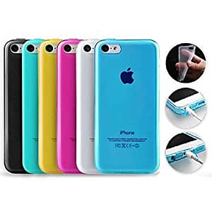 Jia Solid Color TPU Soft Back Case for iPhone 5C(Assorted Color) , Yellow