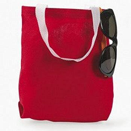 Canvas Red Tote Bag Dozen