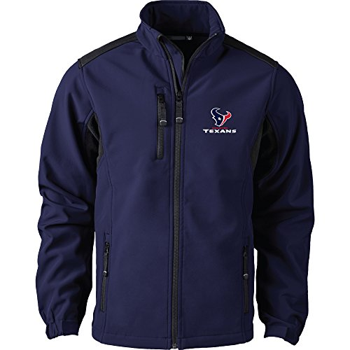 Dunbrooke Apparel NFL Houston Texans Men's Softshell Jacket, 2X, Navy