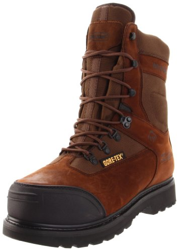 Gore Leather Boots (Wolverine Men's Big Sky Gore 8 Boot, Brown/Maxi Brown, 10 M US)