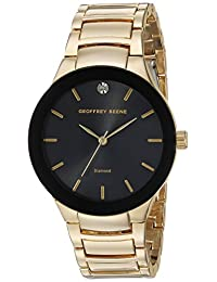 Geoffrey Beene Men's Quartz Metal and Alloy Dress Watch, Color:Gold-Toned (Model: GB8087GDBK)